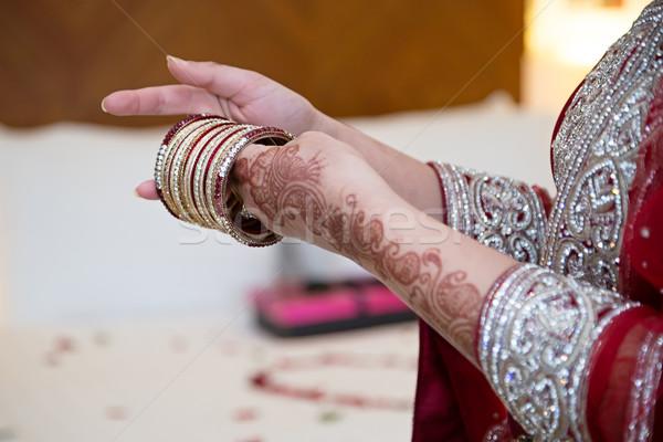 Bruid bruiloft ontwerp achtergrond schoonheid kunst Stockfoto © esatphotography