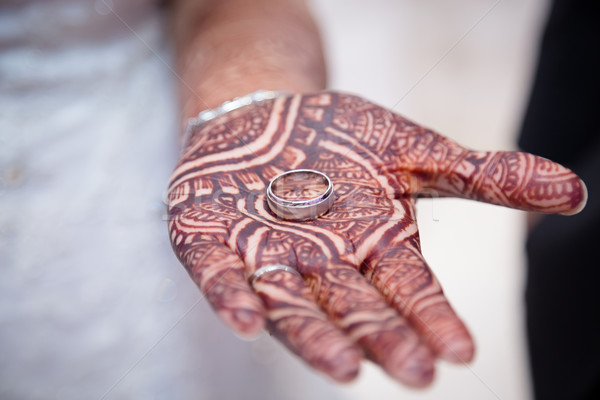 Ring in hand Stock photo © esatphotography