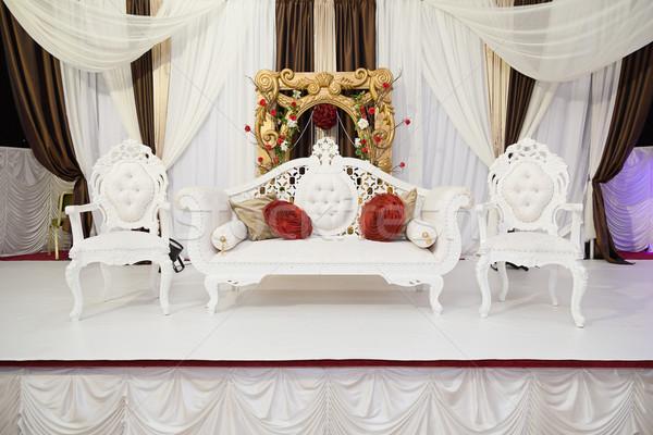 Witte fase bruiloft bloemen ontwerp schoonheid Stockfoto © esatphotography