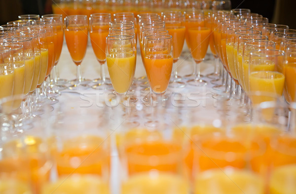 Oranje vruchten sap display voedsel natuur vruchten Stockfoto © esatphotography