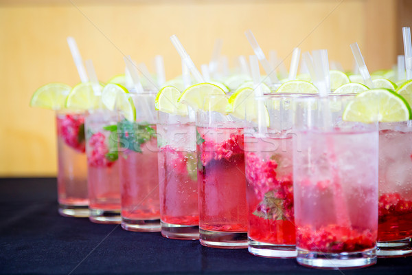 Red Berry Mocktail Stock photo © esatphotography