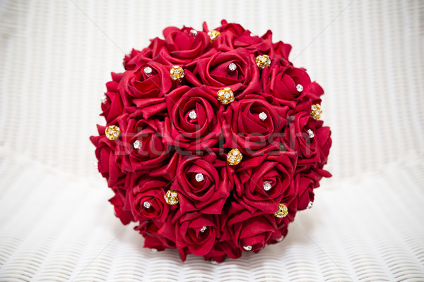 Red bridal bouquet Stock photo © esatphotography