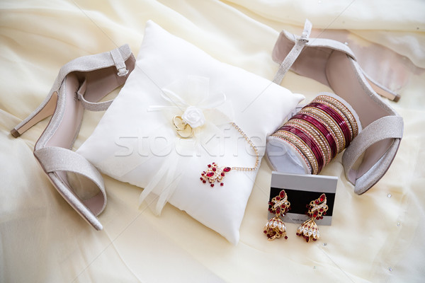 Brides jewelry and shoes Stock photo © esatphotography