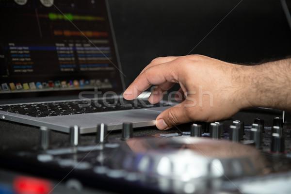 Számítógép játszik zene tánc laptop klub Stock fotó © esatphotography