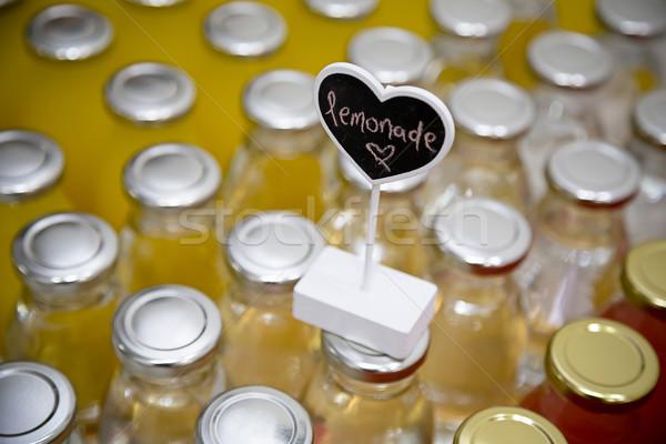 Limonádé ital címke felső tavasz étel Stock fotó © esatphotography