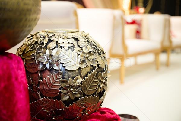 Decorativo ornamento oro boda marco vector Foto stock © esatphotography