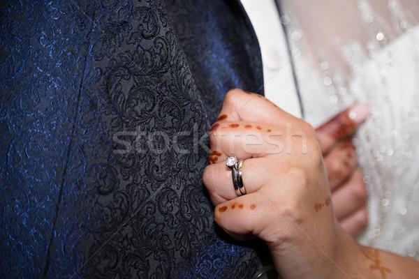 Menyasszonyok gyűrű szeretet férfi pár háttér Stock fotó © esatphotography