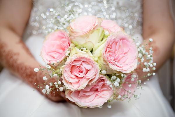 Rustiek boeket bruiloft liefde steeg schoonheid Stockfoto © esatphotography