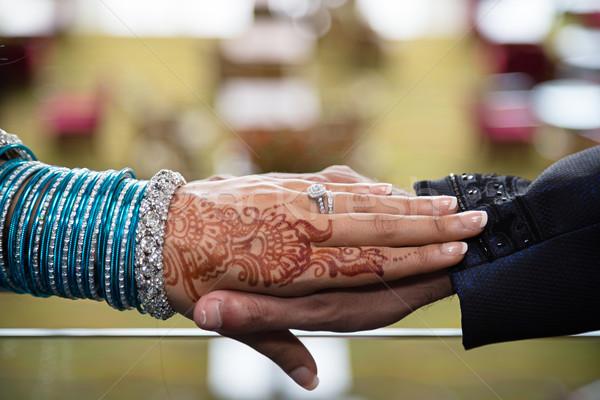 Szerető kezek szeretet menyasszony Stock fotó © esatphotography