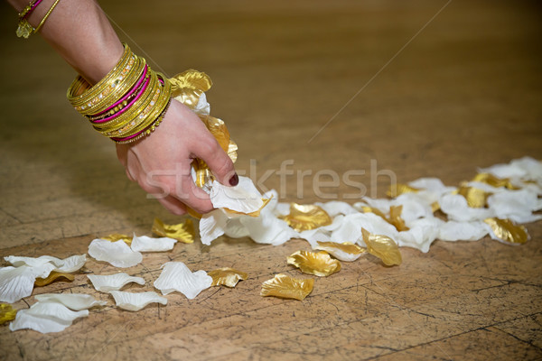 Preparing the aisle with petals Stock photo © esatphotography