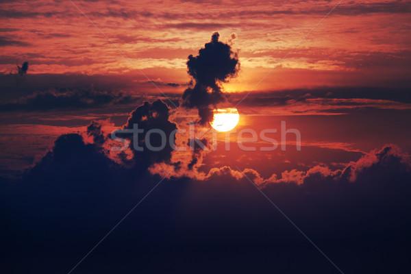 впечатляющий облачный рассвета розовый синий цветами Сток-фото © Escander81