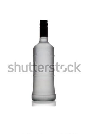 Silhouet wodka fles geïsoleerd witte container Stockfoto © Escander81