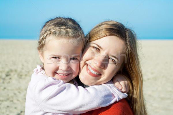 осень морем счастливым матери прелестный девочку Сток-фото © Escander81