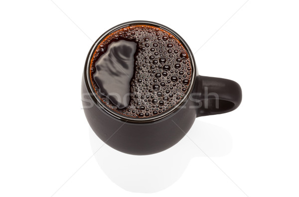 Stock photo: Black ceramic cup isolated on white background