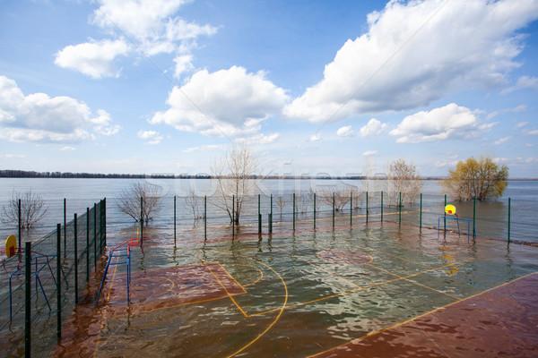 Frühling Hochwasser Wasser groß Zeit Stadt Stock foto © Escander81
