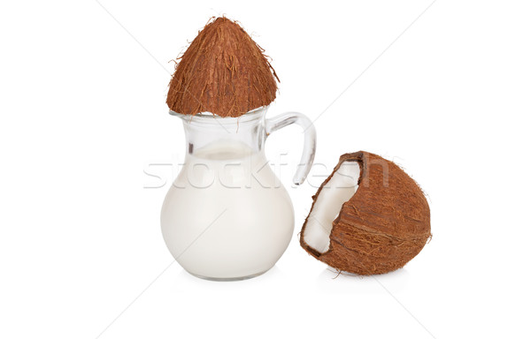 Coconut milk in a jar isloated on white background Stock photo © Escander81