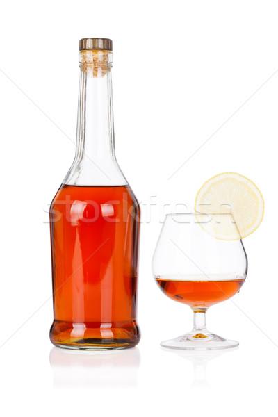 бутылку стекла извести изолированный белый продовольствие Сток-фото © Escander81