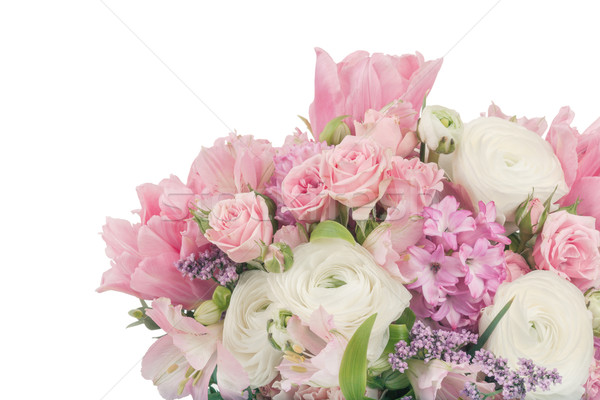 Amazing flower bouquet arrangement in pastel colors isolated on  Stock photo © Escander81