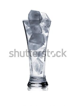 силуэта стекла льда белый изолированный свет Сток-фото © Escander81