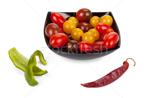 Warzyw zestaw pomidorki czerwony chłodny pieprz Zdjęcia stock © Escander81