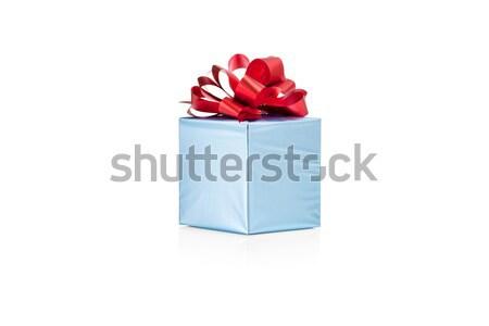 синий шкатулке изолированный белый свадьба Сток-фото © Escander81