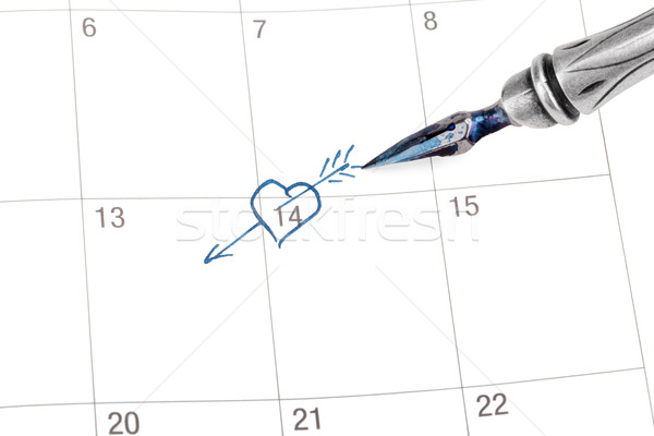 Point out Valentine's day in the calendar Stock photo © Escander81