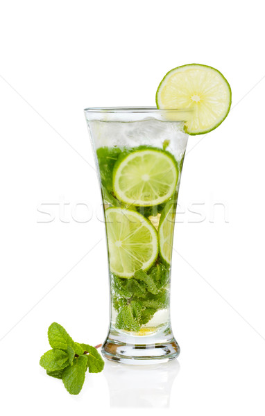 Мохито белый коктейль изолированный стекла пить Сток-фото © Escander81