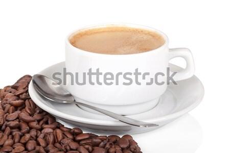 Кубок кофе белый кофе изолированный продовольствие Сток-фото © Escander81
