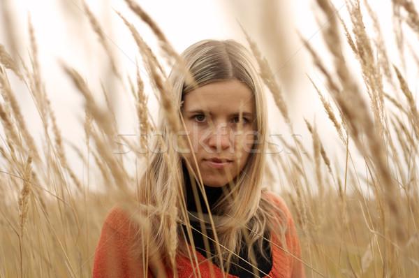 красивой кавказский девушки области высокий зерновые Сток-фото © Escander81