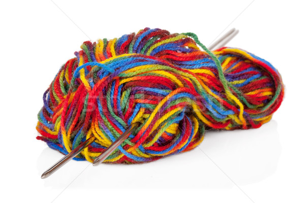 Multicolored woollen yarn or cashmere isolated on white backgrou Stock photo © Escander81
