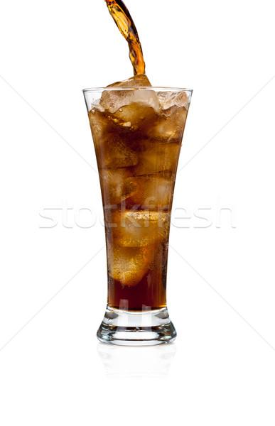 соды Cola стекла льда белый Сток-фото © Escander81