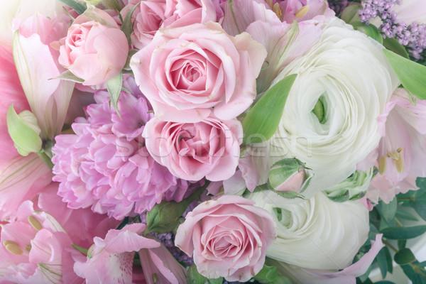 Amazing flower bouquet arrangement close up Stock photo © Escander81
