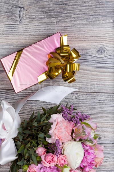 Валентин цветы текстуры закрывается дизайна Сток-фото © Escander81