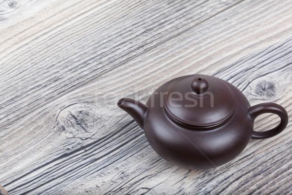 китайский керамической чай набор деревянный стол дизайна Сток-фото © Escander81