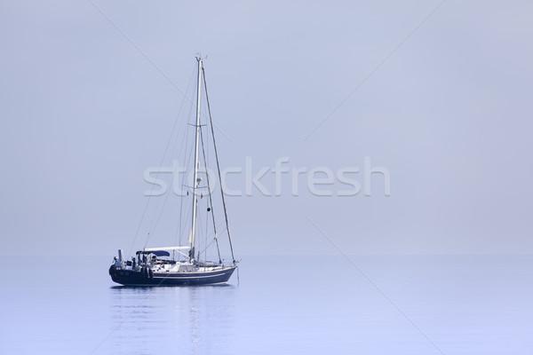одиноко яхта синий морем небе Сток-фото © Escander81