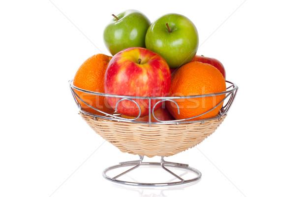 ковша красный зеленый яблоки апельсинов продовольствие Сток-фото © Escander81
