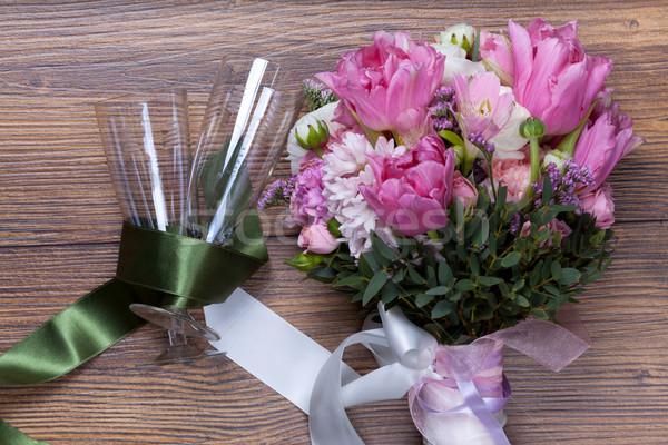 Валентин цветы текстуры закрывается Сток-фото © Escander81