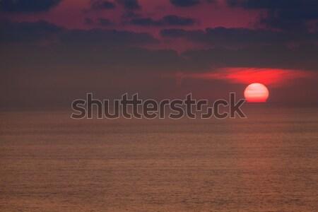 красный рассвета глубокий синий см. солнце Сток-фото © Escander81