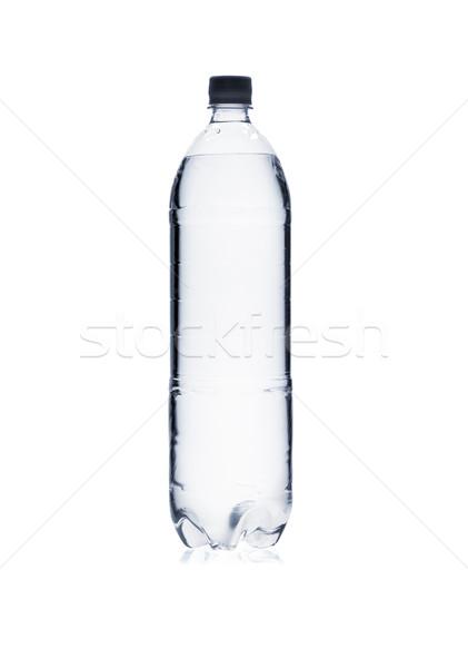 силуэта пластиковых фляга изолированный белый воды Сток-фото © Escander81