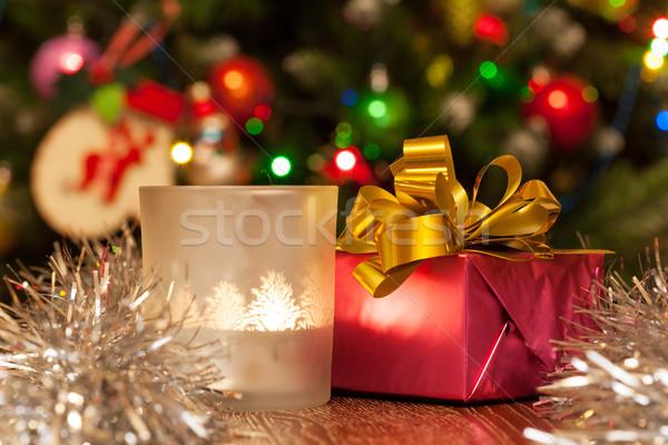 красочный шкатулке свечу Рождества фары любви Сток-фото © Escander81