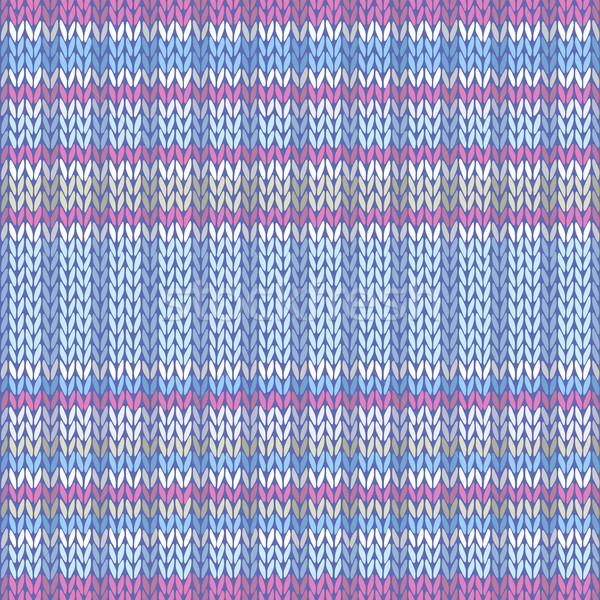 Seamless Pattern. Knit Texture. Fabric Color Tracery Background Stock photo © ESSL