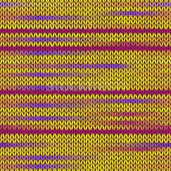 Style tricoté modèle jaune violette Photo stock © ESSL