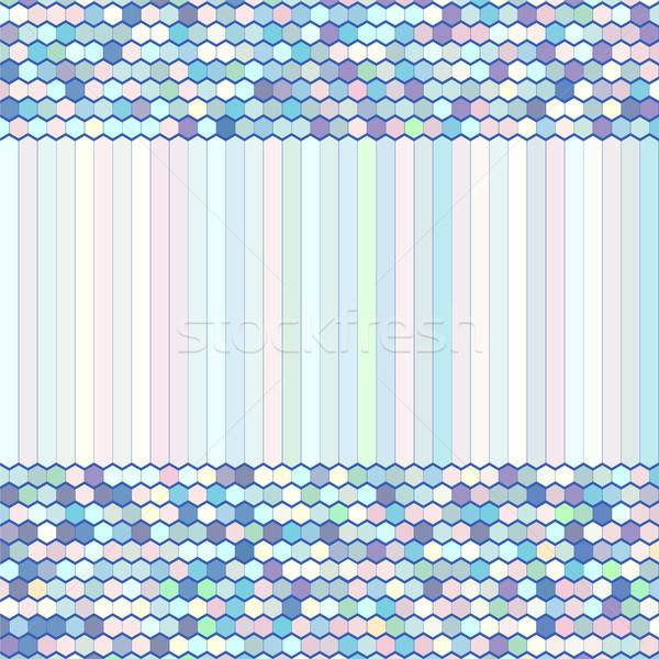 抽象的な ベクトル 色 櫛 飾り 実例 ストックフォト © ESSL