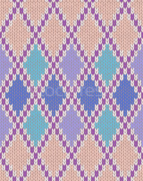 Knit Seamless Jacquard Ornament Texture Stock photo © ESSL