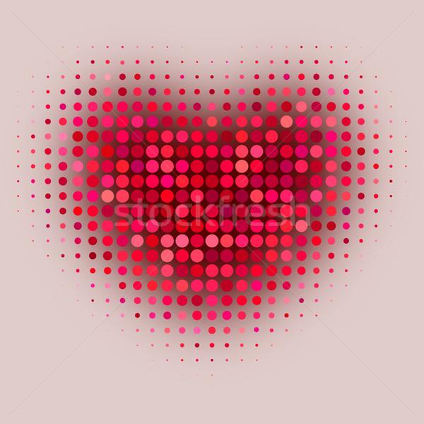 Rot Farbe Halbton Herzform Hochzeit Liebe Stock foto © ESSL