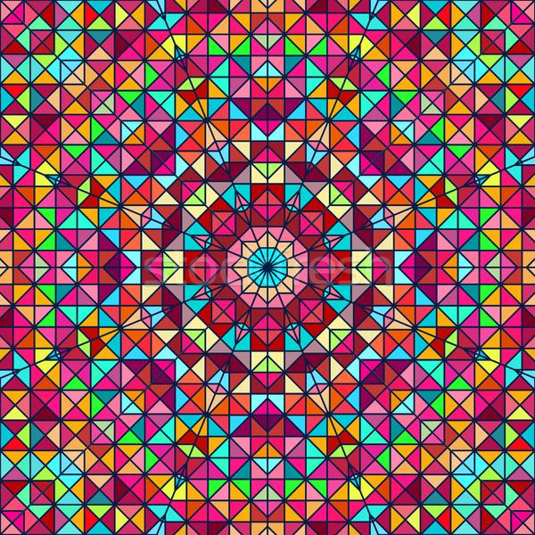 Foto stock: Abstrato · colorido · digital · decorativo · flor · fundo