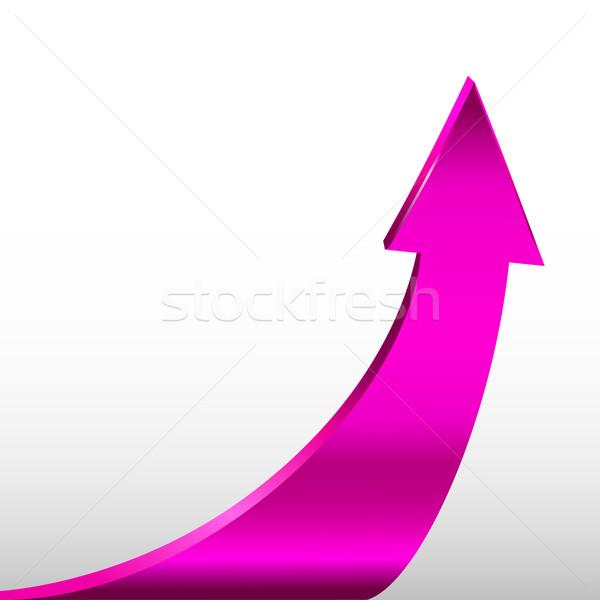 Nyíl magenta szín üzlet terv háttér Stock fotó © ESSL