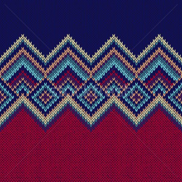 Ornamento textura de moda tejido Foto stock © ESSL
