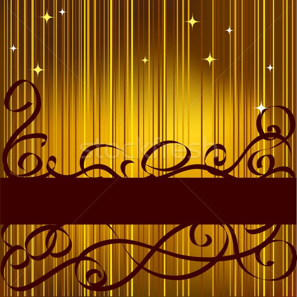 Abstract celebratory gold background for text Stock photo © ESSL