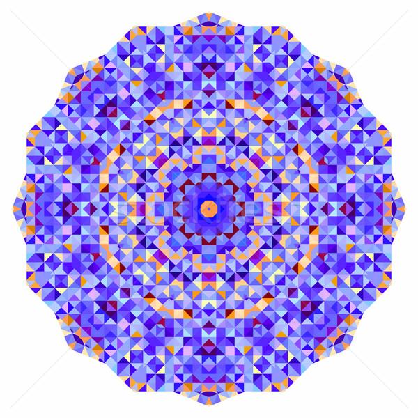 Foto stock: Abstrato · colorido · círculo · fundo · mosaico · bandeira